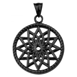 Traumfänger TF01LBK Dreamcatcher Pendant Star Black L