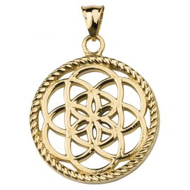 Traumfänger TF02SGO Dreamcatcher Pendant Flower Gold Tone S