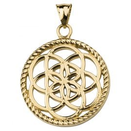 Traumfänger TF02LGO Dreamcatcher Pendant Flower Gold Tone L