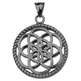 Traumfänger TF02LGR Dreamcatcher Pendant Flower Grey L