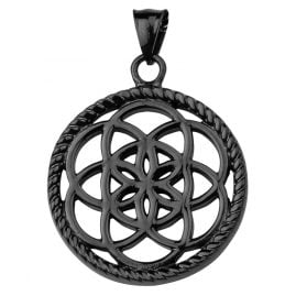 Traumfänger TF02LBK Dreamcatcher Chain Pendant Flower Black L