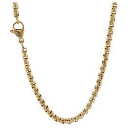 Traumfänger SC063G Damen-Halskette Edelstahl gold plattiert