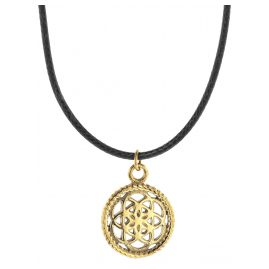 Traumfänger TFP02GOBK Necklace Petit black/gold