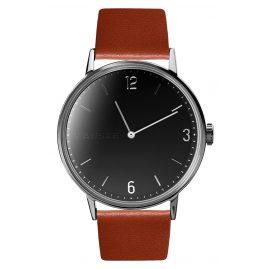 Kanske Denmark 313 Wrist Watch Sincere Silver Tone/Cognac