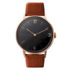 Kanske Denmark 324 Watch Sincere Matt Rose Gold Tone/Brown