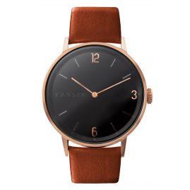 Kanske Denmark 324 Armbanduhr Sincere Matt Roségoldfarben/Braun