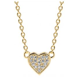 Sif Jakobs Jewellery SJ-C2185-CZ(YG) Heart Pendant Necklace Amore Uno