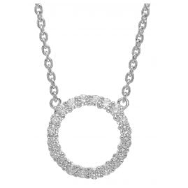 Sif Jakobs Jewellery SJ-C338(1)-CZ Silver Necklace Biella Grande