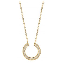 Sif Jakobs Jewellery SJ-C1051-CZ(YG) Ladies' Necklace Valiano Circolo Gold-Plated Silver