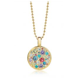 Sif Jakobs Jewellery SJ-P1036-XCZ(YG)/70 Silver Ladies´ Necklace Novara Gold-Plated