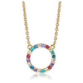 Sif Jakobs Jewellery SJ-C338(1)-XCZ(YG) Ladies´ Silver Necklace Biella Grande Gold-Plated