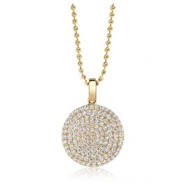 Sif Jakobs Jewellery SJ-P3210-CZ(YG)/45 Ladies´ Necklace Monterosso Silver Gold-Plated