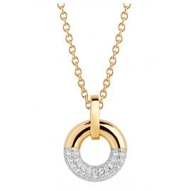 Sif Jakobs Jewellery SJ-P2998-CZ-YG-45 Necklace Cannara Gold-Plated