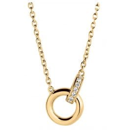 Sif Jakobs Jewellery SJ-C0030-CZ-YG Necklace Itri Piccolo
