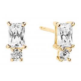 Sif Jakobs Jewellery SJ-E1299-CZ(YG) Earrings Antella Piccolo Gold