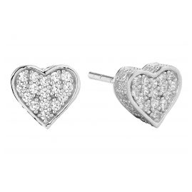 Sif Jakobs Jewellery SJ-E2185-CZ Heart Earrings Amore