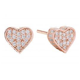 Sif Jakobs Jewellery SJ-E2185-CZ(RG) Heart Earrings Amore Rose
