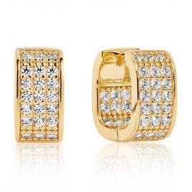 Sif Jakobs Jewellery SJ-E1063-CZ(YG) Damen-Ohrringe Matera Silber Vergoldet