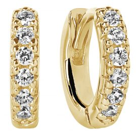 Sif Jakobs Jewellery SJ-E1066-CZ(YG) Ohrringe Creolen Ellera Piccolo Goldfarben