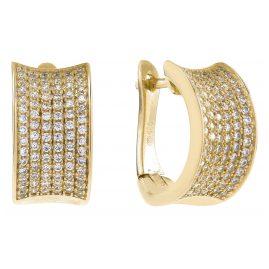 Sif Jakobs Jewellery SJ-E0121-CZ(YG) Ohrringe Creolen Dinami Goldfarben