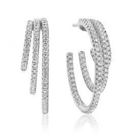 Sif Jakobs Jewellery SJ-E1070-CZ Damen-Creolen Ozieri Tre Grande Silber