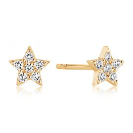 Sif Jakobs Jewellery SJ-E2947-CZ(YG) Silver Ladies´ Earrings Mira Gold-Plated