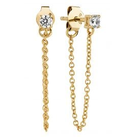 Sif Jakobs Jewellery SJ-E1071-CZ(YG) Earrings Princess Piccolo Lungo