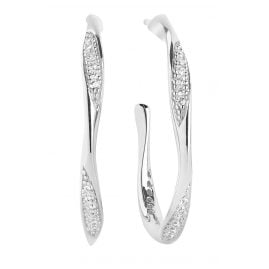 Sif Jakobs Jewellery SJ-E3021-CZ Ladies' Hoop Earrings Cetara