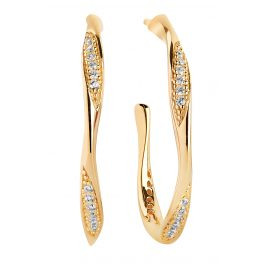 Sif Jakobs Jewellery SJ-E3021-CZ-YG Hoop Earrings Cetara