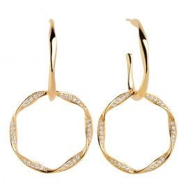 Sif Jakobs Jewellery SJ-E1080-CZ-YG Ladies' Drop Earrings Cetara Due