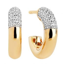 Sif Jakobs Jewellery SJ-E2998-CZ-YG Hoop Earrings Cannara Piccolo Gold-Plated