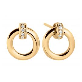 Sif Jakobs Jewellery SJ-E0057-CZ-YG Ladies' Stud Earrings Itri Piccolo