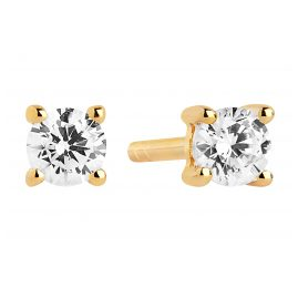 Sif Jakobs Jewellery SJ-E3MMRD-CZ-YG Ladies Earrings Princess Piccolo