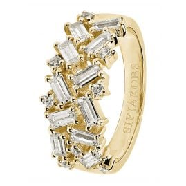 Sif Jakobs Jewellery SJ-R0463-CZ(YG) Ladies Ring Antella