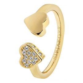 Sif Jakobs Jewellery SJ-R21852-CZ(YG) Ladies Ring Amore Due