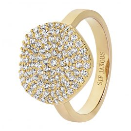 Sif Jakobs Jewellery SJ-R2059-CZ(YG) Ladies´ Ring Monterosso Gold-Plated