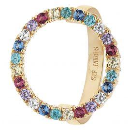 Sif Jakobs Jewellery SJ-R3120-XCZ(YG) Damenring Biella Grande