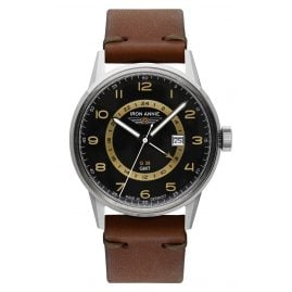 Iron Annie 5342-2 Men's Watch G38 GMT with Brown Leather Strap