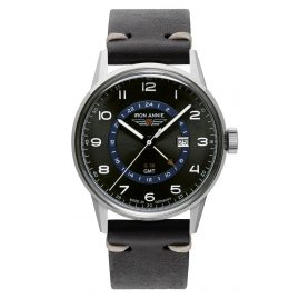 Iron Annie 5342-3 Men's Watch G38 GMT with Black Leather Strap
