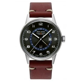 Iron Annie 5342-4 Men's Watch G38 GMT with Red-Brown Leather Strap