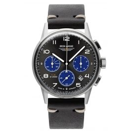 Iron Annie 5372-3 Men's Watch G38 Chronograph Black Leather Strap