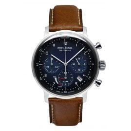 Iron Annie 5086-3 Solar Men's Watch Chronograph Bauhaus Brown Leather Strap