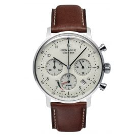 Iron Annie 5086-5 Men's Watch Solar Chronograph Bauhaus with Brown Leather Strap