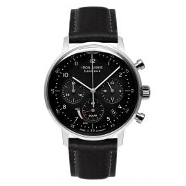 Iron Annie 5086-2 Solar Men's Watch Chronograph Bauhaus Black Leather Strap