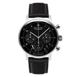 Iron Annie 5086-2 Solar Herrenuhr Chronograph Bauhaus Lederband Schwarz