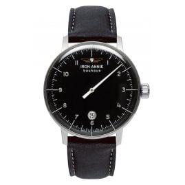 Iron Annie 5042-2 Herren-Armbanduhr Bauhaus 1 Monotimer Schwarz