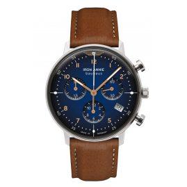Iron Annie 5089-3 Damenuhr Chronograph Bauhaus Lady Braun/Blau