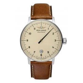 Iron Annie 5042-5 Herren-Armbanduhr Bauhaus 1 Monotimer Braun