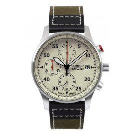 Iron Annie 5670-5 Men's Watch Chronograph F13 Tempelhof Green/Black