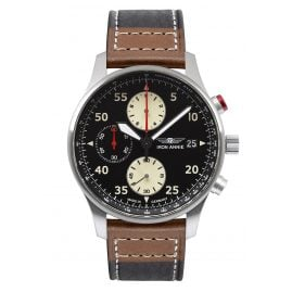 Iron Annie 5670-2 Men's Watch Chronograph F13 Tempelhof Black/Brown